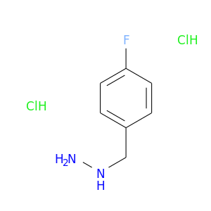 NNCc1ccc(cc1)F.Cl.Cl