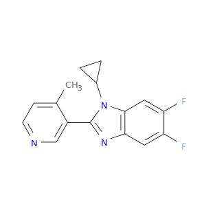 Fc1cc2c(cc1F)nc(n2C1CC1)c1cnccc1C