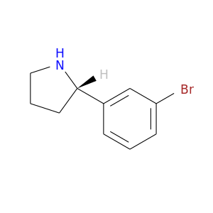 Brc1cccc(c1)[C@@H]1CCCN1