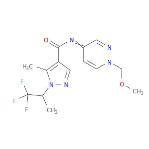 COCn1ccc(=NC(=O)c2cnn(c2C)C(C(F)(F)F)C)cn1
