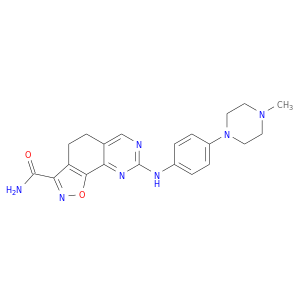 CN1CCN(CC1)c1ccc(cc1)Nc1ncc2c(n1)c1onc(c1CC2)C(=O)N